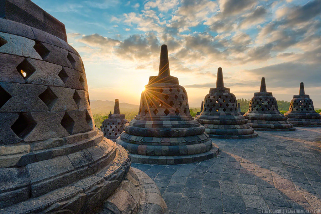 Borobudur Sunset, Indonesia