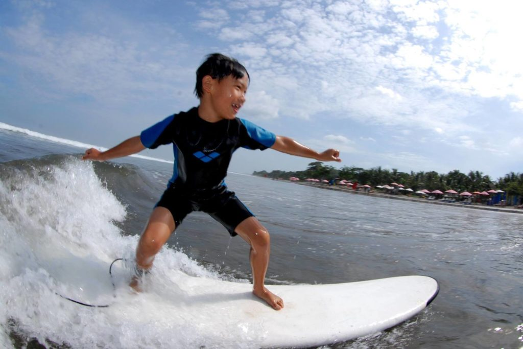 Surfing Lesson for Kids in Bali