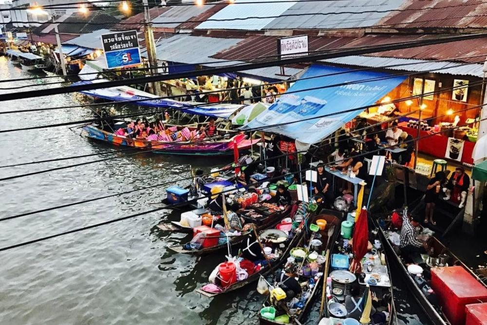 tour of floating market bangkok